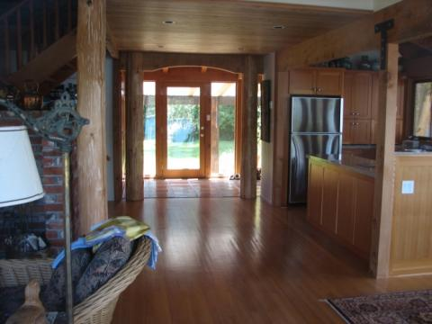 Interior Design in West Coast building on Pender Island built by Dave Dandeneau of Gulf Islands Artisan Homes