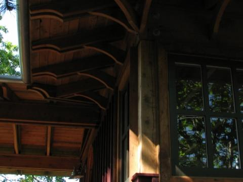 Exterior Rafters on Pender Island built by Dave Dandeneau of Gulf Islands Artisan Homes