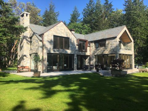 Exterior South Pender Island Home built by Gulf Islands Artisan Homes Dave Dandeneau