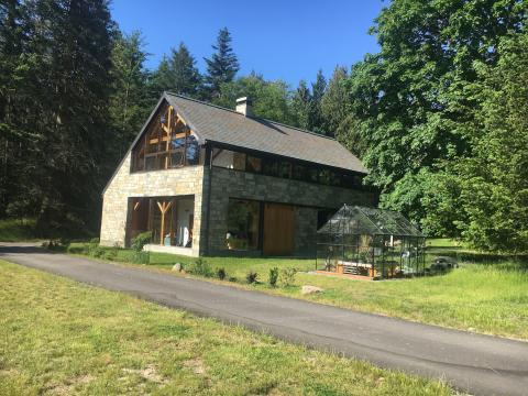 Exterior South Pender Island Home with Barn built by Gulf Islands Artisan Homes Dave Dandeneau