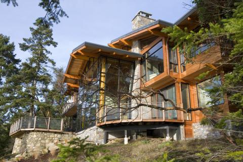 Outside House on Irene Bay Road by Dave Dandeneau of Gulf Islands Artisan Homes