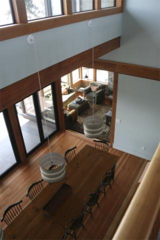Dining AreaWest Coast Luxury Home on Pender Island built by Dave Dandeneau of Gulf Islands Artisan Homes