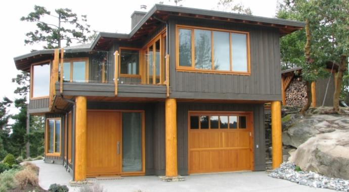 Exterior Shot of Spyglass project - built by Gulf Island Artisan Homes by Dave Dandeneau
