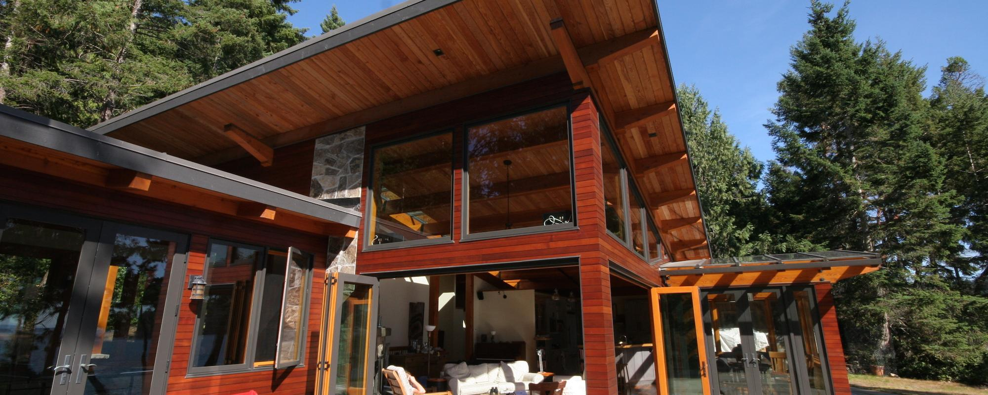 North Pender Home built by Gulf Islands Artisan Homes by Dave Dandeneau
